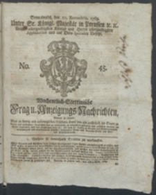 Wochentlich-Stettinische Frag- und Anzeigungs-Nachrichten. 1769 No. 45 + Anhang
