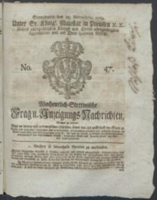 Wochentlich-Stettinische Frag- und Anzeigungs-Nachrichten. 1769 No. 47 + Anhang