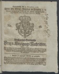 Wochentlich-Stettinische Frag- und Anzeigungs-Nachrichten. 1769 No. 48 + Anhang