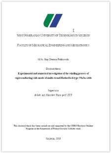Badania doświadczalne i numeryczne uzwajania cewek nadprzewodnikowych wykonanych z przewodu wielożyłowego Nb3Sn typu Rutherford