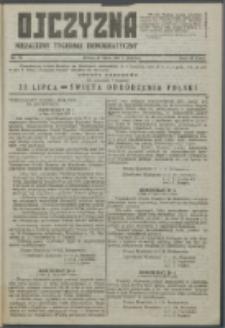 Ojczyzna : niezależny tygodnik demokratyczny. 1947 nr 70