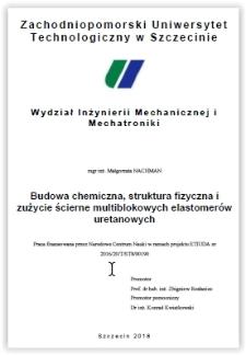 Budowa chemiczna, struktura fizyczna i zużycie ścierne multiblokowych elastomerów uretanowych