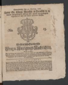 Wochentlich-Stettinische Frag- und Anzeigungs-Nachrichten. 1770 No. 13 + Anhang