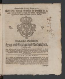 Wochentlich-Stettinische Frag- und Anzeigungs-Nachrichten. 1770 No. 19 + Anhang