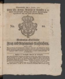 Wochentlich-Stettinische Frag- und Anzeigungs-Nachrichten. 1770 No. 22 + Anhang