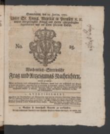 Wochentlich-Stettinische Frag- und Anzeigungs-Nachrichten. 1770 No. 25 + Anhang