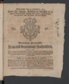 Wochentlich-Stettinische Frag- und Anzeigungs-Nachrichten. 1770 No. 37 + Anhang