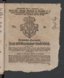 Wochentlich-Stettinische Frag- und Anzeigungs-Nachrichten. 1770 38 + Anhang