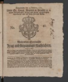 Wochentlich-Stettinische Frag- und Anzeigungs-Nachrichten. 1770 No. 41 + Anhang