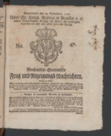 Wochentlich-Stettinische Frag- und Anzeigungs-Nachrichten. 1770 No. 47 + Anhang