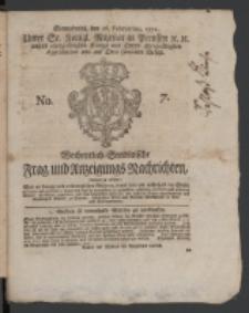 Wochentlich-Stettinische Frag- und Anzeigungs-Nachrichten. 1771 No. 7 + Anhang