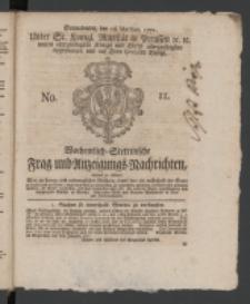 Wochentlich-Stettinische Frag- und Anzeigungs-Nachrichten. 1771 No. 11 + Anhang