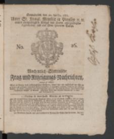 Wochentlich-Stettinische Frag- und Anzeigungs-Nachrichten. 1771 No.16 + Anhang