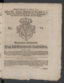 Wochentlich-Stettinische Frag- und Anzeigungs-Nachrichten. 1771 No.24 + Anhang