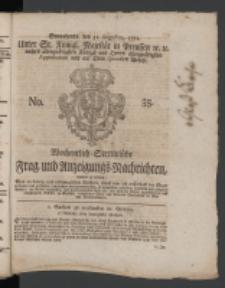 Wochentlich-Stettinische Frag- und Anzeigungs-Nachrichten. 1771 No.35 + Anhang