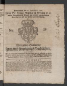 Wochentlich-Stettinische Frag- und Anzeigungs-Nachrichten. 1771 No.38 + Anhang