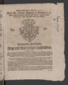 Wochentlich-Stettinische Frag- und Anzeigungs-Nachrichten. 1771 No.40 + Anhang