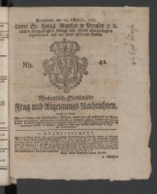 Wochentlich-Stettinische Frag- und Anzeigungs-Nachrichten. 1771 No.41 + Anhang