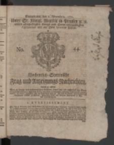 Wochentlich-Stettinische Frag- und Anzeigungs-Nachrichten. 1771 No.44 + Anhang