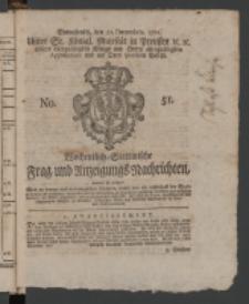 Wochentlich-Stettinische Frag- und Anzeigungs-Nachrichten. 1771 No.51 + Anhang
