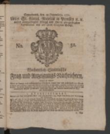 Wochentlich-Stettinische Frag- und Anzeigungs-Nachrichten. 1771 No.52 + Anhang