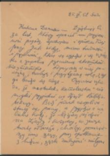 List Marii Dąbrowskiej do Danuty Hepke-Kelch. List z 25.06.1952.