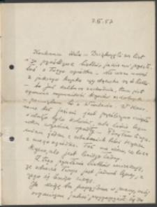 List Marii Dąbrowskiej do Danuty Hepke-Kelch. List z 3.11.1957.
