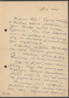 List Marii Dąbrowskiej do Heleny Hepke. List z 8.03.1958.