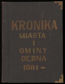 Kronika Miasta i Gminy Dębna 1981-1989