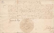 Pismo Zygmunta III Wazy, króla Polski potwierdzające zmianę opiekuna prawnego nad Wojciechem Erazmem Herburtem