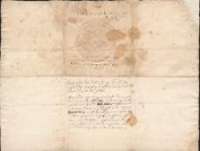 Pismo Jana Kazimierza, króla Polski potwierdzające nadanie ziemskie dla Stanisława Dumańskiego