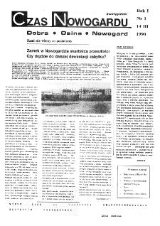 Czas Nowogardu. R.I, 1990 nr 1