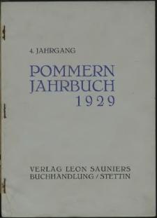 Pommern Jahrbuch. 1929