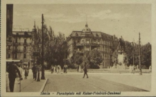 Stettin, Paradeplatz mit Kaiser-Friedrich-Denkmal