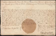 Pismo Stanisława Augusta Poniatowskiego potwierdzające cejsę na rzecz Józefa Salezego Ossolińskieg