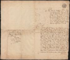 Pismo poświadczające przystąpienie Tomasza Wędrychowskeigo do konfederacji targowickiej