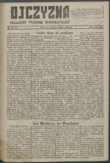 Ojczyzna : niezależny tygodnik demokratyczny. 1948 nr 106