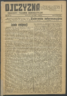 Ojczyzna : niezależny tygodnik demokratyczny. 1949 nr 134