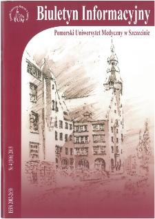 Biuletyn Informacyjny - Pomorski Uniwersytet Medyczny w Szczecinie. Nr 4 (106), 2019