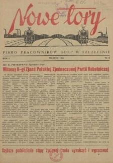 Nowe Tory : pismo pracowników DOKP w Szczecinie. R.1, 1954 nr 2