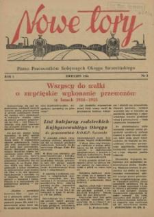 Nowe Tory : pismo pracowników DOKP w Szczecinie. R.1, 1954 nr 3