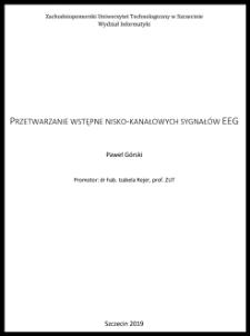 Przetwarzanie wstępne nisko-kanałowych sygnałów EEG