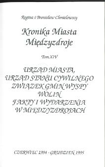 Kronika Miasta Międzyzdroje. Tom 14. Urząd Miejski