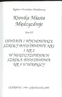 Kronika Miasta Międzyzdroje. Tom 15. Oświata