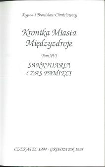 Kronika Miasta Międzyzdroje. Tom 16. Sanktuaria, czas pamięci