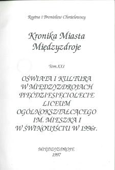 Kronika Miasta Międzyzdroje. Tom 21. Oświata i kultura w Międzyzdrojach, ...