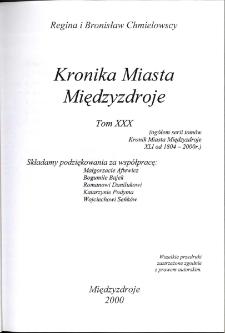 Kronika Miasta Międzyzdroje. Tom 30