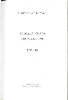Kronika Miasta i Gminy Międzyzdroje. Tom 46, tomy 3-5