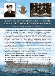 Poczet kapitanów żeglugi wielkiej - kpt. ż.w. Zbigniew Szymański
