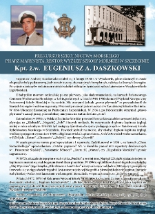 Poczet kapitanów żeglugi wielkiej - kpt. ż.w. Eugeniusz Daszkowski